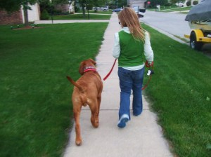 Walking with sister